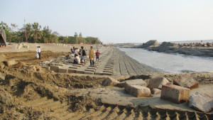 Sea Dyke, CC Block Work-Kutubdia